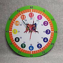 Обучающие настенные часы Феи (Салатовый ободок)