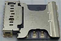 Коннектор SIM-карты Samsung G350E, I8262, I8552, I8580