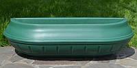 """Вазон настенный, балконный 750 мм """"Зеленый"""" уличные горшки (Термочаша двойные стенки) для цветов, фото 1"""