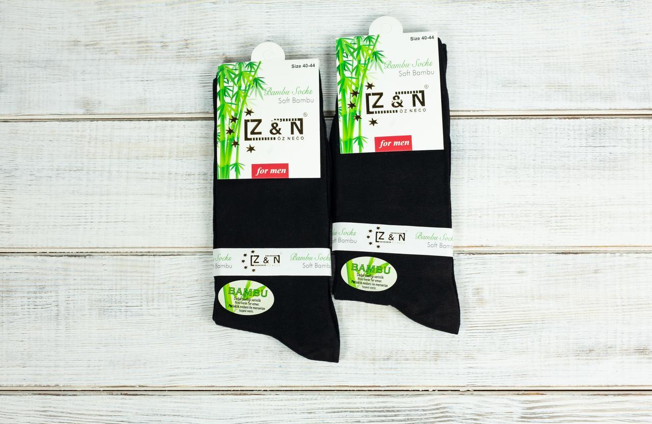 Високі носки чоловічі шкарпетки стрейчеві Z&N бамбук антибактеріальний продукт 39-41 41-44 12 шт в уп