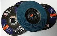 Круг лепестковый тарельчатый КЛТ 125х22 Р120 Best