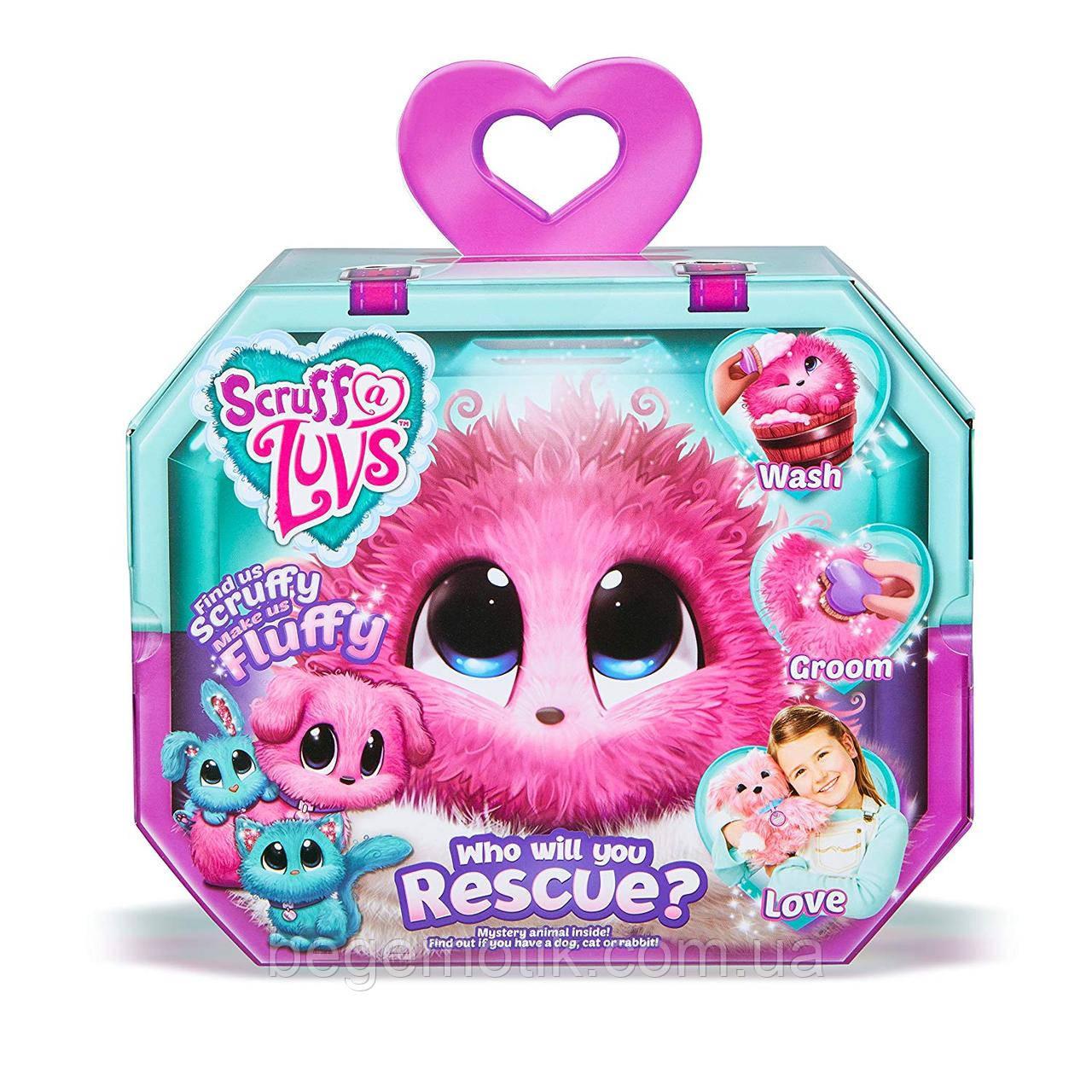 Игрушка-сюрприз Little Live Scruff A Luvs Питомец Няшка-Потеряшка розовая (635SLP01)