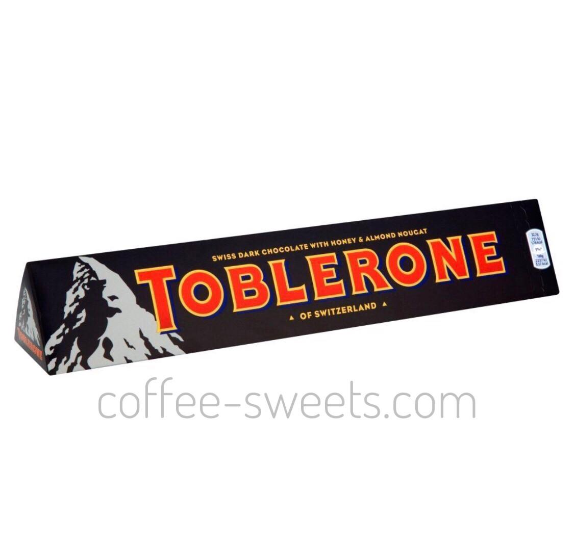 Шоколад Toblerone чорний з нугою з меду і мигдалем 100 гр