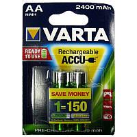 Аккумулятор  R6 Varta 2400mAh NiMH (56756)(по 2шт)(предзаряженный) AA