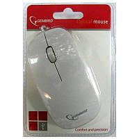 Компьютерная мышка Gembird MUS-103-W, белая USB