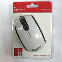 Компьютерная мышка Gembird MUS-105, бело-черная, USB