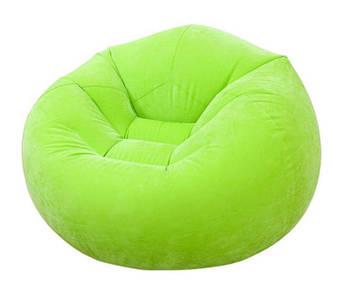 Большое кресло-мешок Intex Велюр кресло 68569 ( Зелёный 68569(Green))