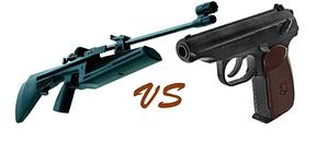 Пистолеты винтовки и аксессуары