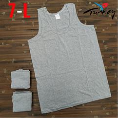 Майки мужские 100% хлопок серые Baytas Yildiz Турция размер 7-L ММ-2535