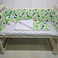 Комплект в кроватку для новорожденных Т.М.Миля Пуделя в Париже 60см х 35 см в комплекте 6 шт. (505))