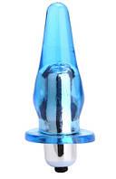 Анальна пробка з вібрацією синя, фото 1