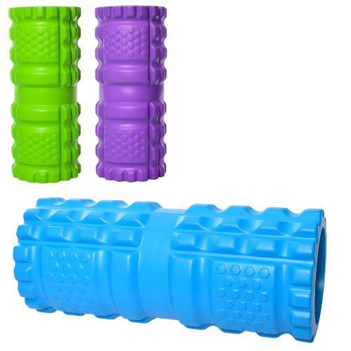 Масажний Валик для спини і йоги MS 2465 рулон для йоги EVA розмір 32,5-14 см