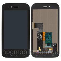 Дисплейный модуль (дисплей + сенсор) для LG Optimus Sol E730, E739, с рамкой, оригинал