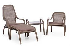 Кресло Лэйзи высокое ротанг, фото 3