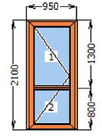 Металлопластиковые двери входные WDS ШВ 1000*2100 мм