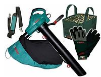 Садовый пылесос BOSCH ALS 30 + перчатки + сумка