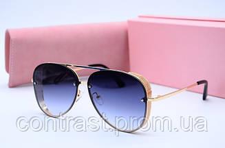 Солнцезащитные очки Valentino золото сер