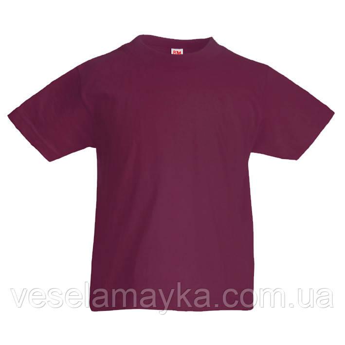 Детская бордовая футболка (Комфорт)