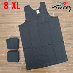 Майки мужские 100% хлопок черные Baytas Yildiz Турция размер 8-ХL ММ-2539