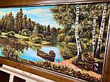 """Картина пейзаж из янтаря """" Полеский пейзаж """" 40x90 см, фото 2"""