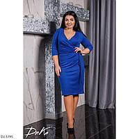 Батальное облегающее платье с запахом 41413