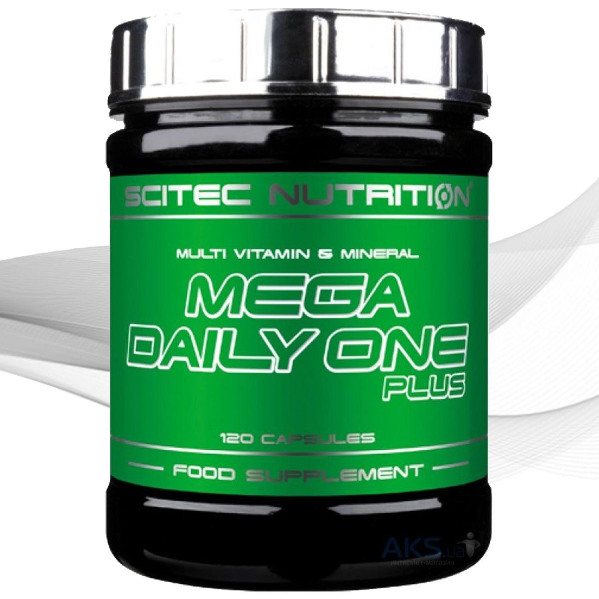 Комплекс витаминов и минералов Scitec Nutrition Mega Daily One Plus 120 caps.