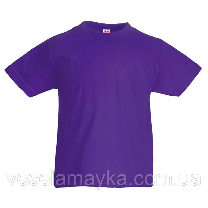 Фиолетовая детская футболка (Комфорт)
