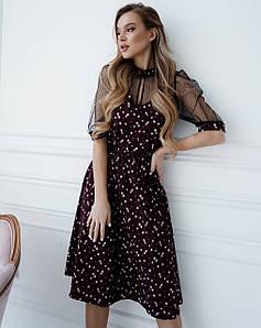 Весеннее платье с сеточкой