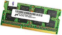 Оперативная память для ноутбука Micron SODIMM DDR3 4Gb 1333MHz 10600S 2R8 CL9 (MT16JTF51264HZ-1G4H1) Б/У, фото 1