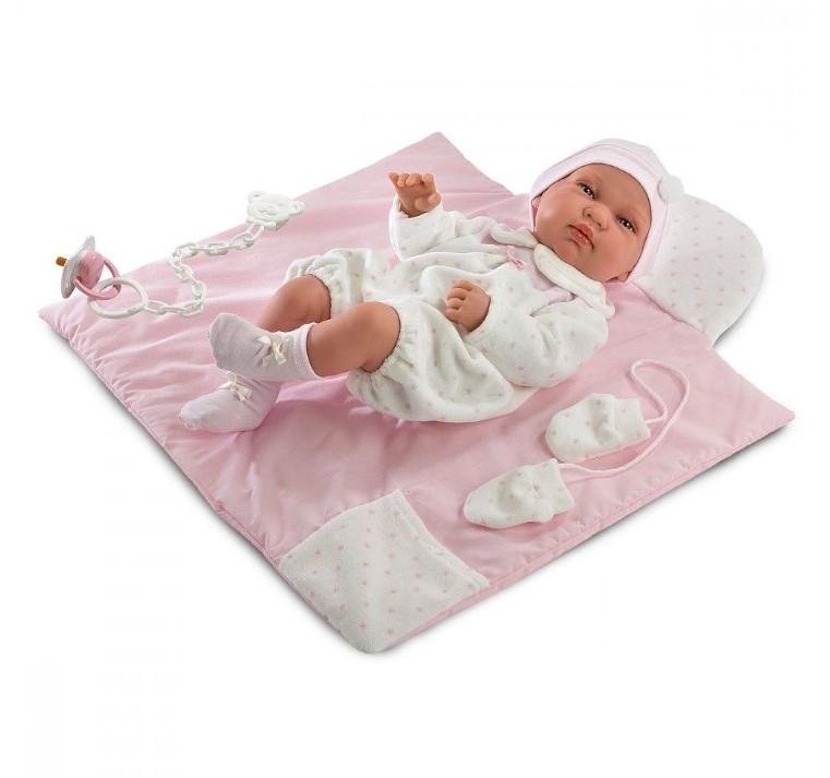 Кукла Llorens Тина младенец с ковриком Лоренс Tina 43 см 84314