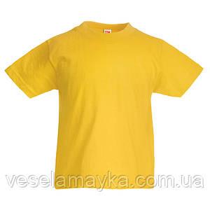 Желтая детская футболка (Комфорт)