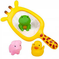 "Набор для купания ""Жираф"" (сачок и 3 игрушки)"