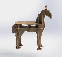 Стол стеллаж декоративный  Конь
