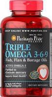 Omega 3-6-9 Puritans Pride Flax Oil 1000 mg 120 softgels