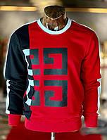 Мужская кофта красно-черная Givenchy GV4 (реплика)