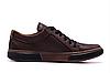 Мужские кожаные кеды Levis Chocolate Classic коричневые