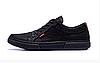 Мужские кожаные кеды Levis black Classic черные