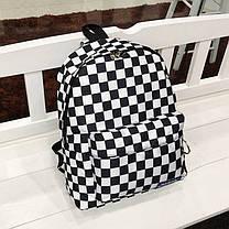Вместительный тканевый рюкзак в шахматную клетку, фото 3