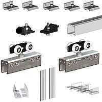 Комплект подвесной раздвижной системы для стеклянной двери Valcomp Herkules GLASS до 100 кг (213-370)