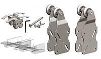 Комплект роликов Valcomp HORUS HR02 для подвесной раздвижной системы шкафа-купе, 2 створки до 45 кг (219-004)