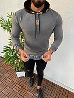 Мужская кофта серая Sik Silk SSK2