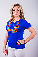 Вышитая женская футболка купить опт и розница, фото 1