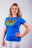 Купить женскую вышитую футболку, фото 1