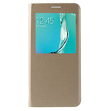 Чехол книжка S View Cover для Samsung Galaxy S6 Edge+ G928 золотой