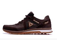 Мужские кожаные кроссовки Reebok SPRINT TR brown коричневые, фото 1
