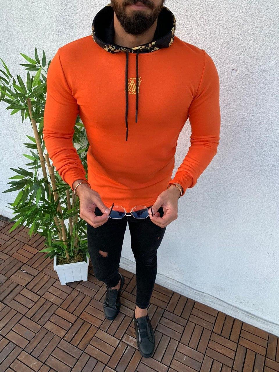 Мужская кофта оранжевая Sik Silk SSK2