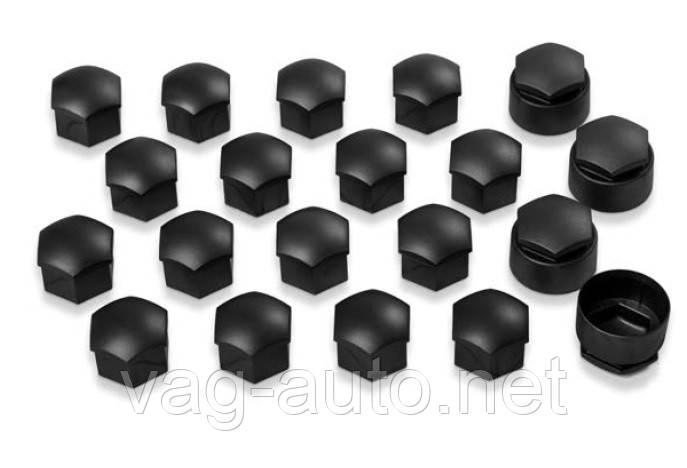 Комплект колпачков колесных болтов/секретных болтов, черный матовый