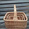 Плетеные корзины из цельной лозы 4шт
