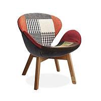 Кресло Сван Вуд Армз пэчворк, бук, ткань