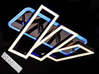 Светодиодная люстра с пультом-диммером и цветной подсветкой черный хром 11019-3